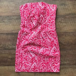 Lilly Pulitzer Franco Strapless Punch Pink Dress